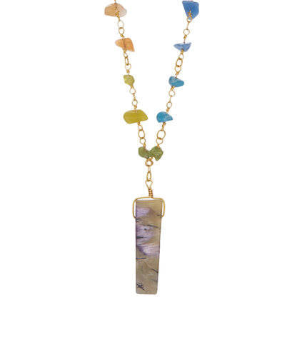 Chakra Multicolor Jasper Bar Necklace