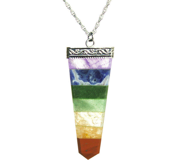 PRIDE & Chakra Silver Spear Necklace