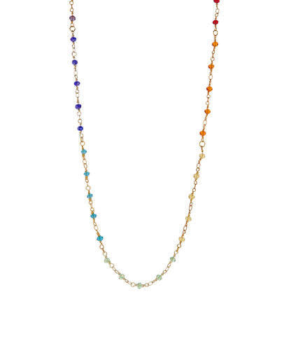 Chakra Beaded Rosary Necklace