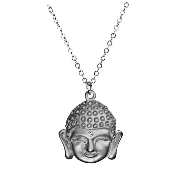 Sparkle Buddha Silver Necklace