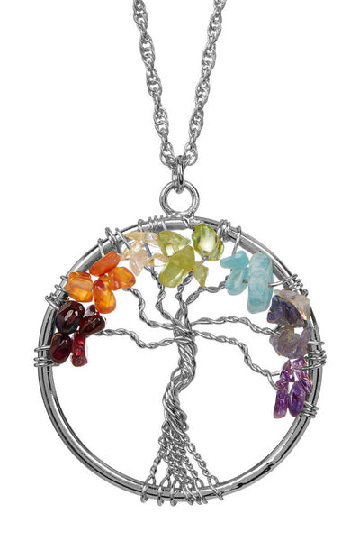 PRIDE & Chakra Silver Tree of Life Necklace