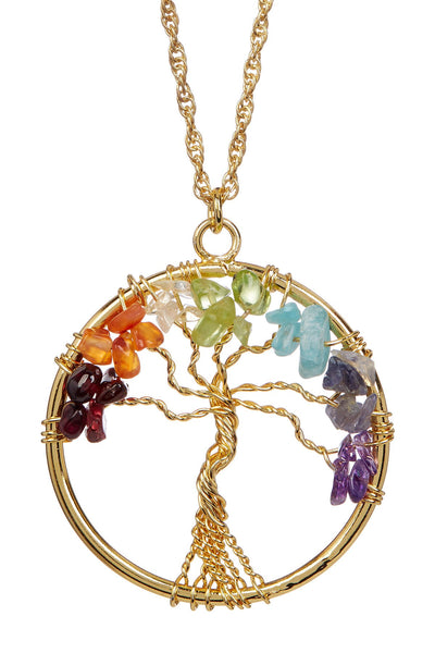 PRIDE & Chakra Gold Tree of Life Necklace