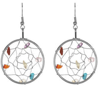 PRIDE & Chakra Silver Dreamcatcher Earrings