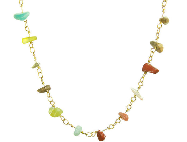 Chakra Semiprecious Multicolor Necklace