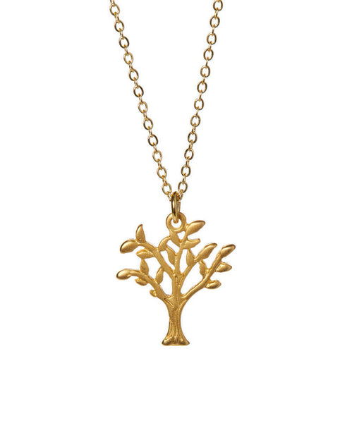 Small Tree Gold Necklace