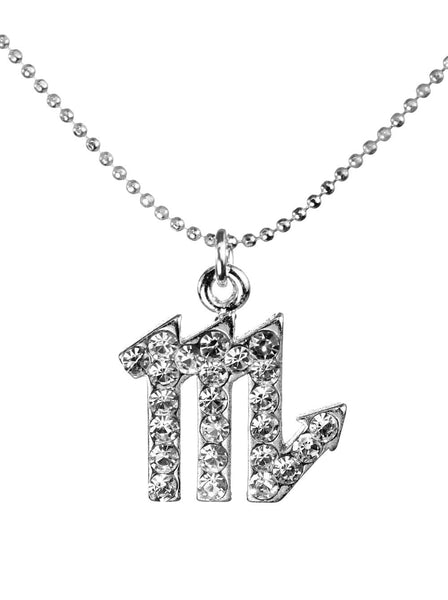 Scorpio & Swarovski Crystal Elements Sparkle Zodiac Sign Necklace