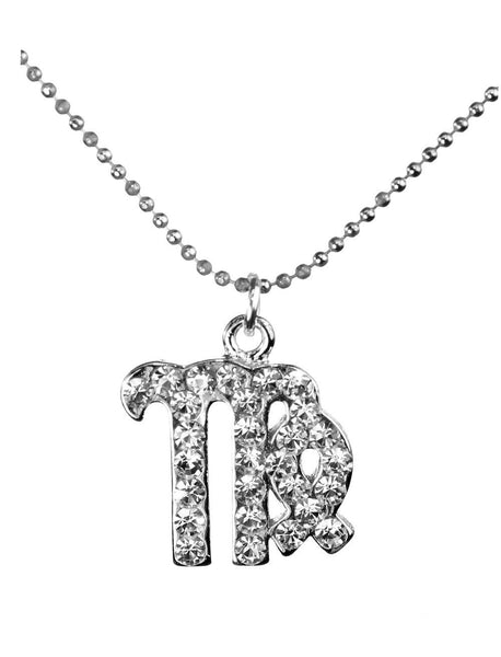 Virgo & Swarovski Crystal Elements Sparkle Zodiac Sign Necklace