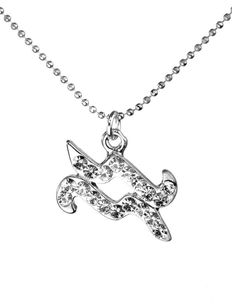 Aquarius & Swarovski Crystal Elements Sparkle Zodiac Sign Necklace