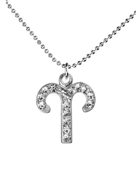 Aries & Swarovski Crystal Elements Sparkle Zodiac Sign Necklace