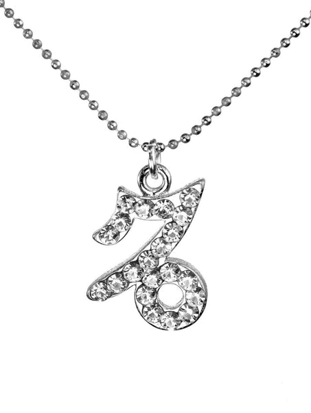 Capricorn & Swarovski Crystal Elements Sparkle Zodiac Sign Necklace