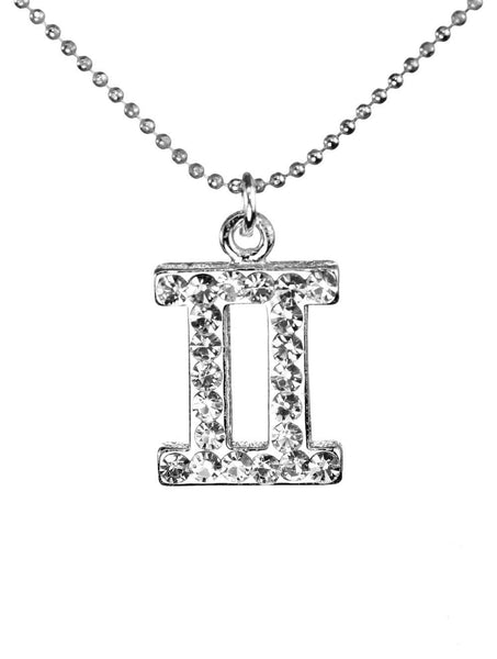 Gemini & Swarovski Crystal Elements Sparkle Zodiac Sign Necklace