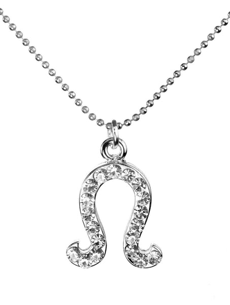 Leo & Swarovski Crystal Elements Sparkle Zodiac Sign Necklace