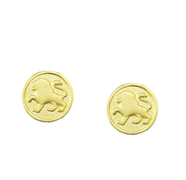 FREE SHIPPING Leo Zodiac Mini Token Stud Earrings