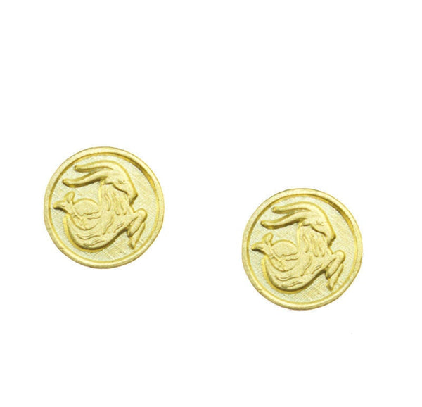 Capricorn Zodiac Mini Token Stud Earrings