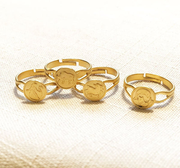FREE SHIPPING Zodiac Mini Token Ring