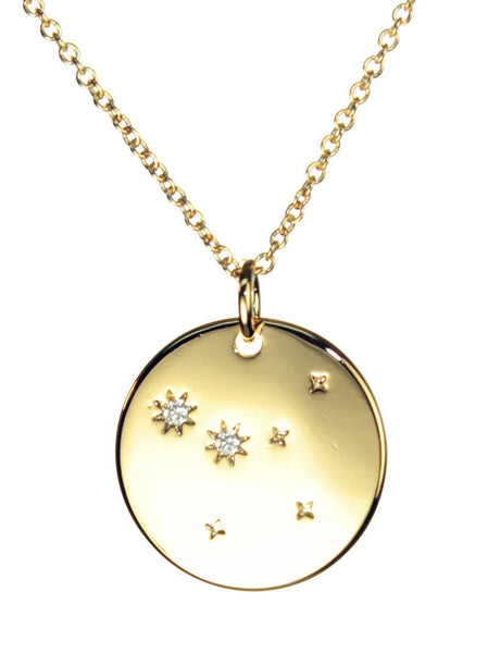FREE SHIPPING Cancer Constellation Token Zodiac Necklace