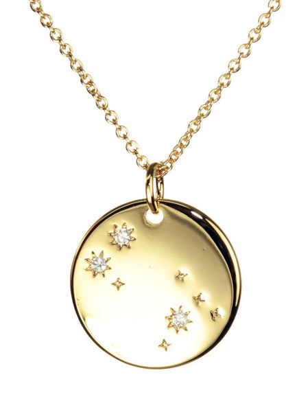 FREE SHIPPING Gemini Constellation Token Zodiac Necklace