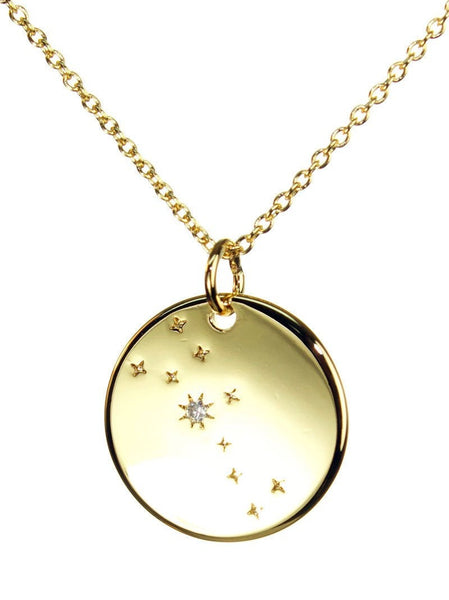 FREE SHIPPING Taurus Constellation Token Zodiac Necklace