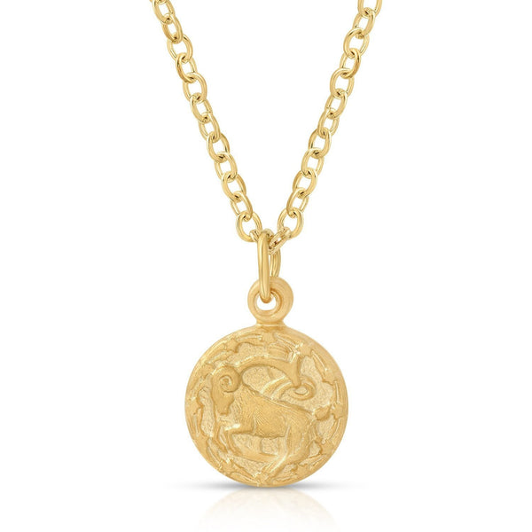 Teeny Tiny Vintage Capricorn Zodiac Necklace