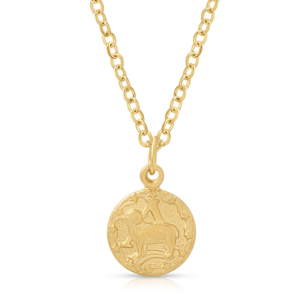 Teeny Tiny Vintage Aries Zodiac Necklace