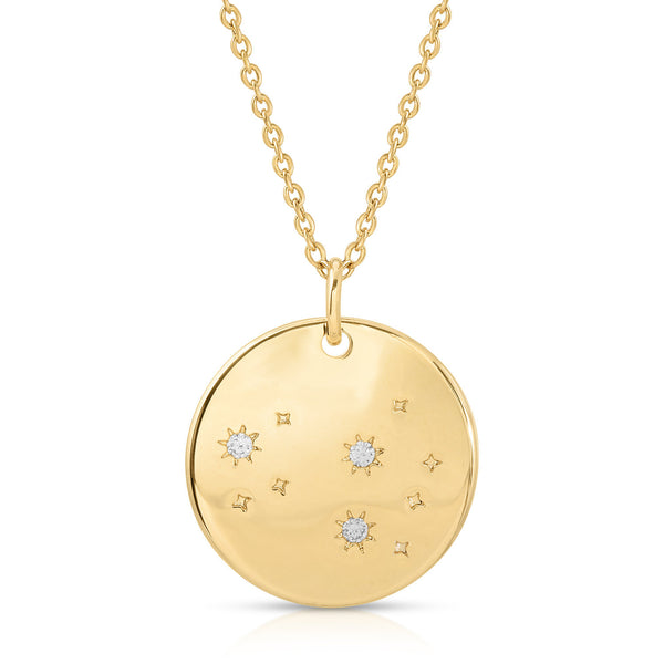 FREE SHIPPING Leo Constellation Token Zodiac Necklace