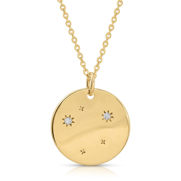 FREE SHIPPING Libra Constellation Token Zodiac Necklace
