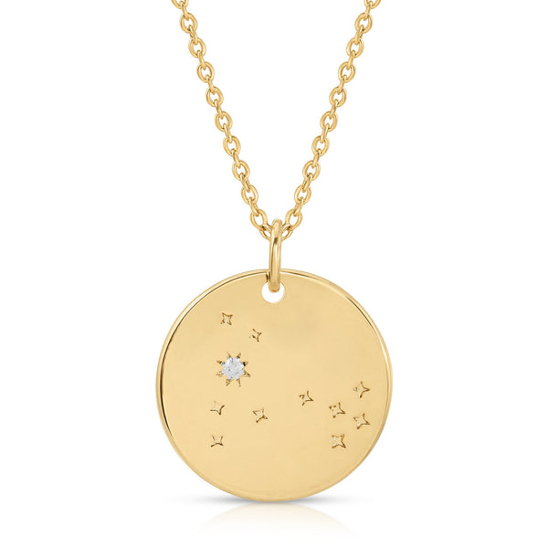 FREE SHIPPING Pisces Constellation Token Zodiac Necklace