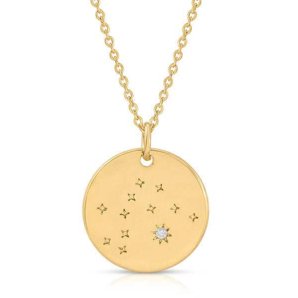Aquarius Constellation Token Zodiac Necklace