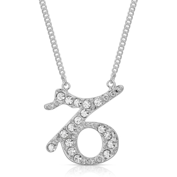 Capricorn Pave Crystal Sparkle Zodiac Festoon Birthday Necklace