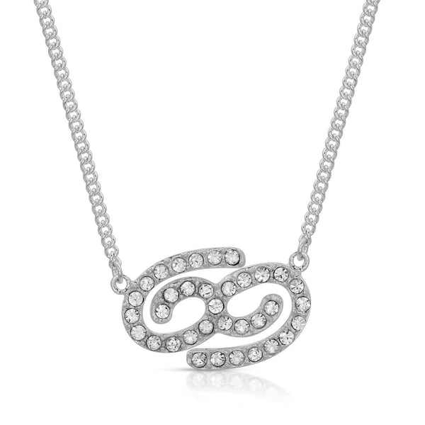Cancer Fine Pave Crystal Zodiac Festoon Necklace