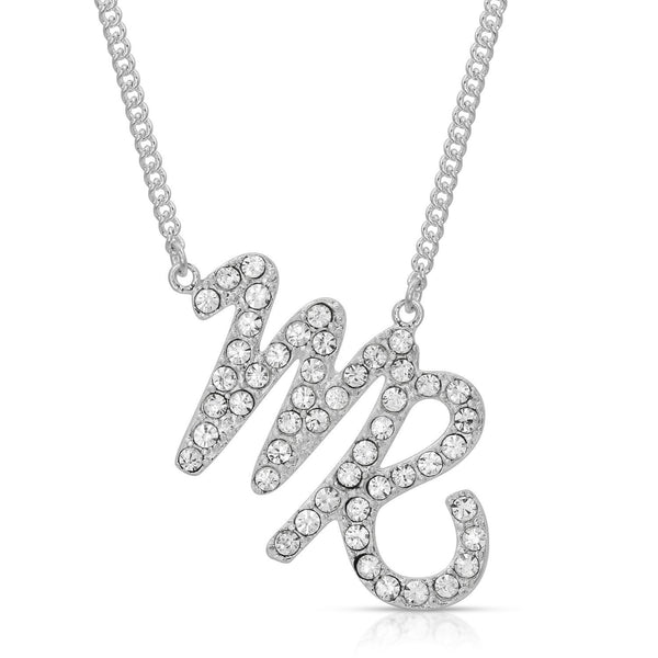 FREE SHIPPING Virgo Fine Pave Crystal Zodiac Festoon Necklace