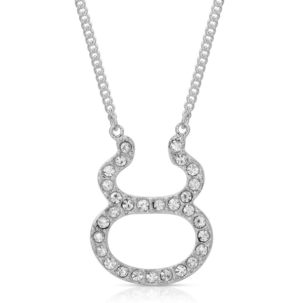 FREE SHIPPING Taurus Fine Pave Crystal Zodiac Festoon Necklace