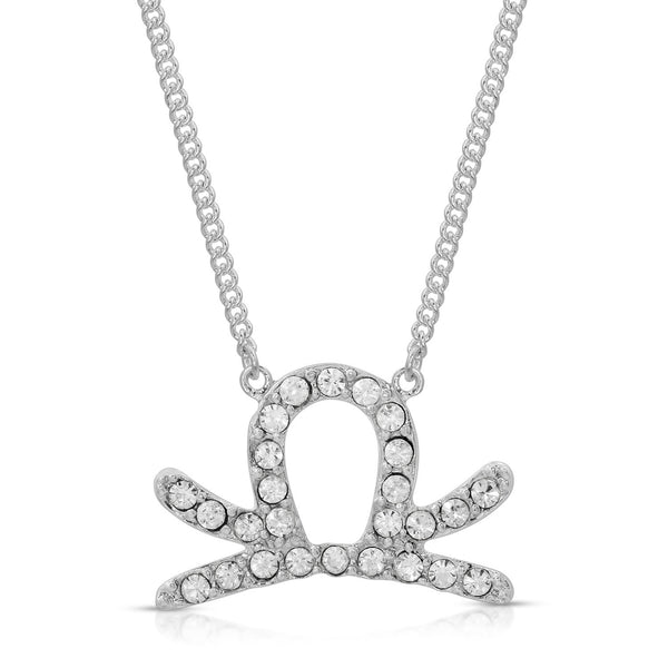 FREE SHIPPING Libra Fine Pave Crystal Zodiac Festoon Necklace