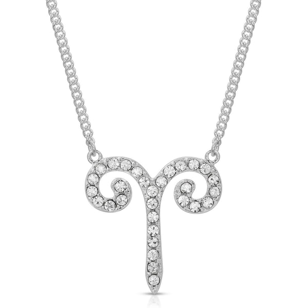 Aries Fine Pave Crystal Zodiac Festoon Necklace