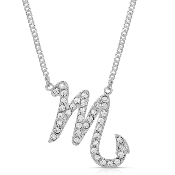 FREE SHIPPING Scorpio Fine Pave Crystal Zodiac Festoon Necklace