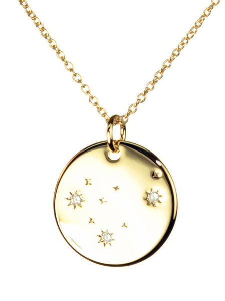 FREE SHIPPING Capricorn Constellation Token Zodiac Necklace