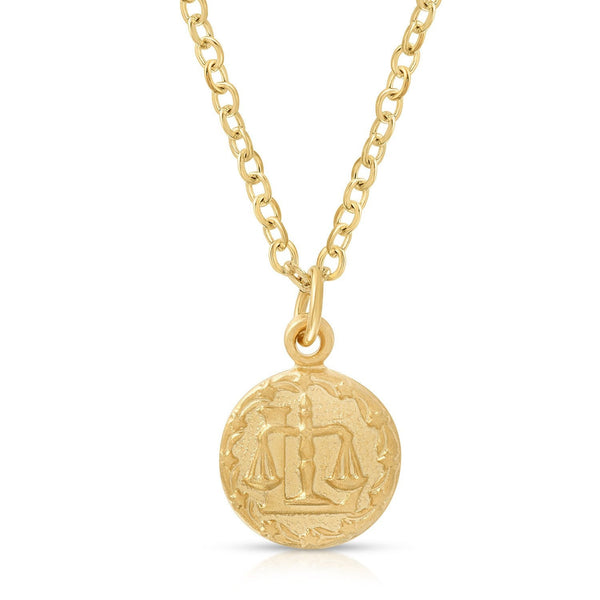 Teeny Tiny Vintage Libra Zodiac Necklace