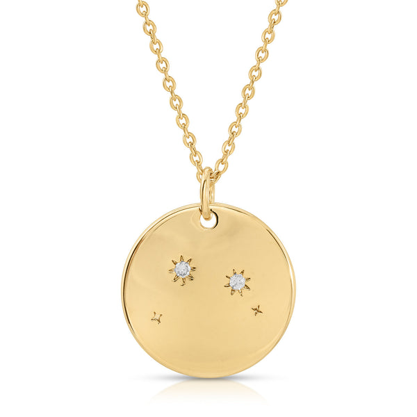 Aries Constellation Token Zodiac Necklace