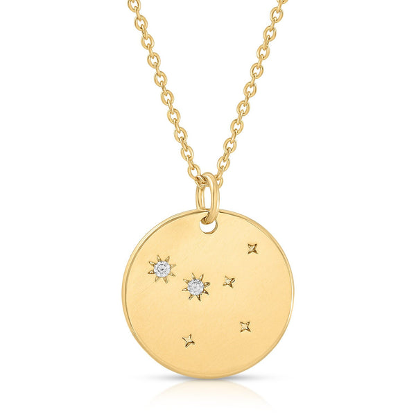 Cancer Constellation Token Zodiac Necklace