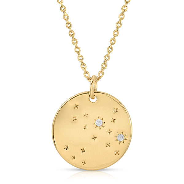 FREE SHIPPING Sagittarius Constellation Token Zodiac Necklace