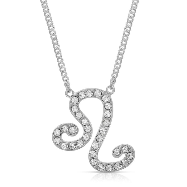 FREE SHIPPING Leo Fine Pave Crystal Zodiac Festoon Necklace