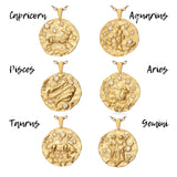 Taurus Gold Cubic Zirconia Zodiac Necklace (All Signs Available)