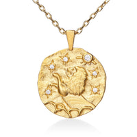 Leo Gold Cubic Zirconia Zodiac Necklace (All Signs Available)
