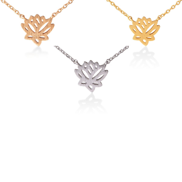 Lotus Necklace (Gold, Rose Gold, Rhodium Silver)