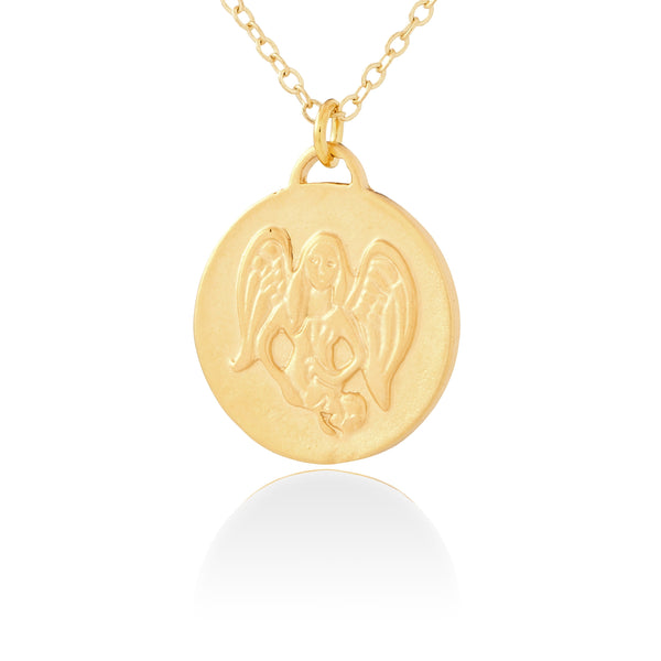 Virgo Zodiac Organic Coin Necklace