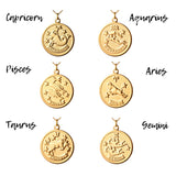 Vintage Aries Token Zodiac Necklace
