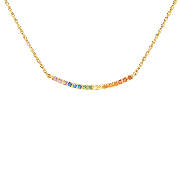 Dainty Rainbow Swoop Necklace