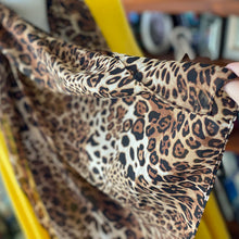 Load image into Gallery viewer, Chiffon leopard scarf