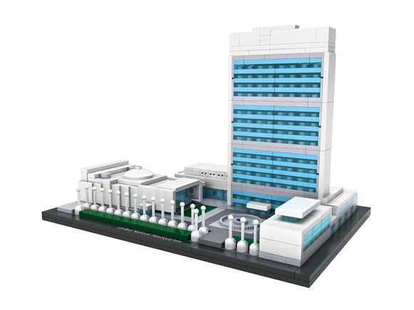 UNITED NATIONS HEADQUARTERS MINI ARCHITECTURES - BY LOZ 1014