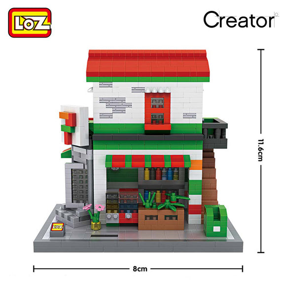7-11 SEVEN ELEVEN CONVENIENCE STORE 9037  LOZ DIAMOND BLOCK
